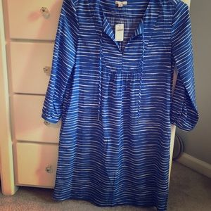 NWT GAP Silk Striped Dress Size XS
